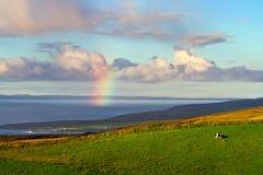 Regenbogen über dem Ozean Lizenzfreie Stockfotografie