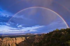 Regenbogen über Grand Canyon Lizenzfreie Stockfotografie