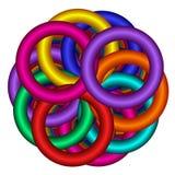 Regenbogen-überlappende Ringe Lizenzfreie Stockfotografie