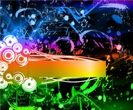 Regenbogen. Rainbow background with grunge Stock Illustration