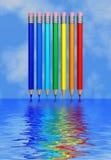 Regenbogen auf dem Wasser Stockfoto