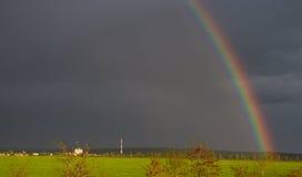 Regenbogen auf der Straße Lizenzfreie Stockfotos