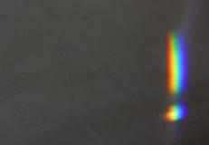 Regenbogen auf der Wand Stockbild