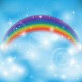 Regenbogen auf Himmel Stockbild