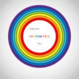 Regenbogen-Aufkleber auf weißem Hintergrund Stockfotografie