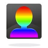 Regenbogen-Avataravektor Stockbilder