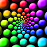 Regenbogen-Bälle stockfotos