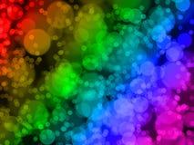 Regenbogen bokeh Hintergrund. Lizenzfreie Stockfotos