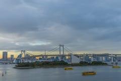 Regenbogen-Brücke bei Sonnenuntergang Lizenzfreie Stockfotos