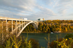 Regenbogen-Brücke - Niagara Falls Stockbild