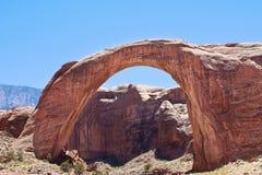 Regenbogen-Brücken-natürlicher Bogen, See Powell, Arizona Lizenzfreies Stockbild