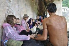Regenbogen, der in Palenque erfasst Stockbilder