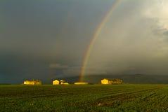 Regenbogen in der Wintersaison Lizenzfreie Stockbilder