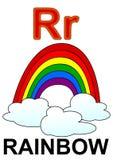 Regenbogen des Zeichens R Stockbilder