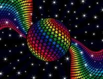 Regenbogen-Disco-Hintergrund Lizenzfreies Stockfoto