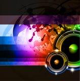 Regenbogen-Disco-Hintergrund für Plakate oder Flugblätter Stockbild