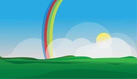 Regenbogen-Dorf Lizenzfreies Stockfoto