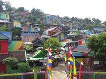 Regenbogen-Dorf in Semarang Stockfoto