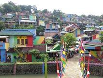Regenbogen-Dorf in Semarang Stockbilder