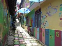 Regenbogen-Dorf in Semarang Lizenzfreie Stockfotografie