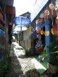 Regenbogen-Dorf in Semarang Stockfotografie