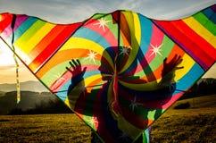 Regenbogen-Drachen Lizenzfreies Stockfoto