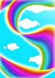 Regenbogen drapieren Stockfotografie