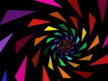Regenbogen-Dreiecke Stockfotos