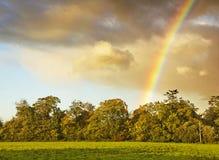 Regenbogen in Dublin Irland Lizenzfreie Stockbilder