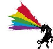 Regenbogen-Einhorn Stockbild