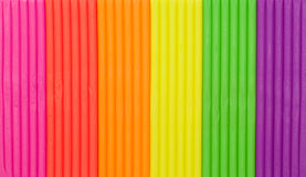 Regenbogen färbt Plasticinebeschaffenheit Stockfoto