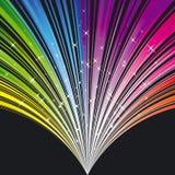 Regenbogen färbt Streifenhintergrund mit Sternen Stockfotografie