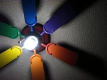 Regenbogen-Fan Lizenzfreies Stockfoto