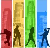Regenbogen-Farbe Hip Hop Lizenzfreie Stockfotografie