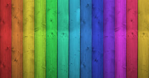 Regenbogen-Farben auf hölzernem Hintergrund Lizenzfreie Stockfotos