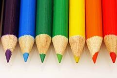 Regenbogen farbige Bleistifte Lizenzfreies Stockfoto