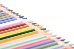 Regenbogen farbige Bleistifte - Nahaufnahme Lizenzfreies Stockfoto