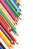 Regenbogen farbige Bleistifte - Nahaufnahme Lizenzfreie Stockfotografie