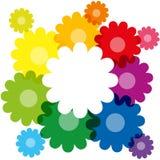 Regenbogen farbige Blumen Stockfotos