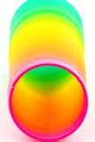 Regenbogen farbige Drahtspirale Stockbilder