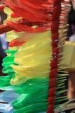 Regenbogen-farbige Federn Lizenzfreies Stockfoto