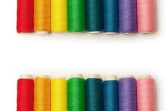 Regenbogen farbige Gewinde eingestellt getrennt Lizenzfreie Stockbilder