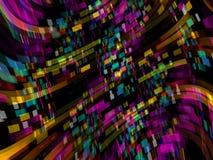 Regenbogen farbige Muster-Hintergrund-Illustration Lizenzfreie Stockfotografie