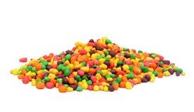 Regenbogen farbige Süßigkeiten Stockbild