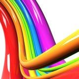 Regenbogen farbige Seilzüge über Weiß vektor abbildung