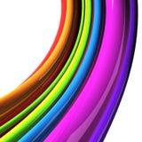 Regenbogen farbige Seilzüge getrennt über Weiß lizenzfreie abbildung