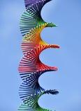 Regenbogen farbige Spirale Stockbild