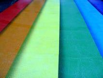 Regenbogen farbige Straße Stockfotos