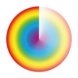 Regenbogen farbiger Dämpfungskreis Stockbild