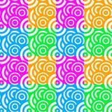 Regenbogen-Farbkreis-Muster nahtlos lizenzfreie abbildung